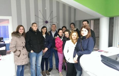 Studenti Grafičkog dizajna i vizuelnih komunikacija u posjeti štampariji Grafomark Laktaši