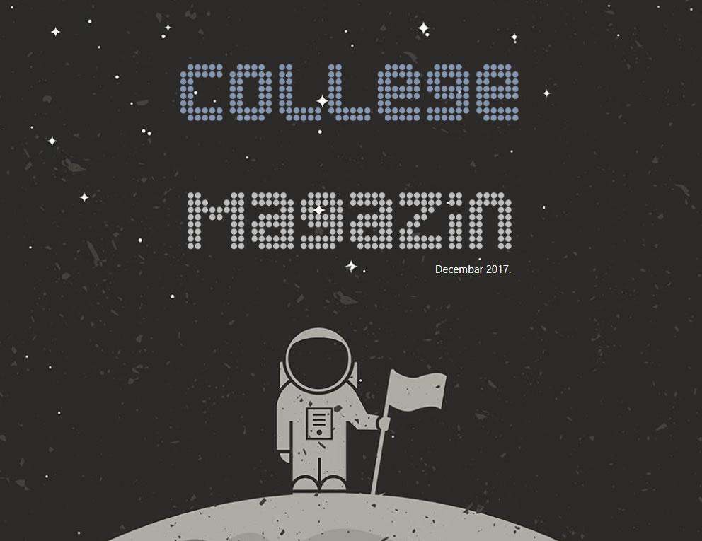 College magazin – Decembar 2017.
